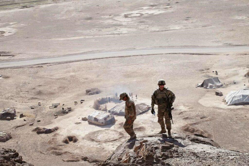 U.S. Army soldiers patrol
